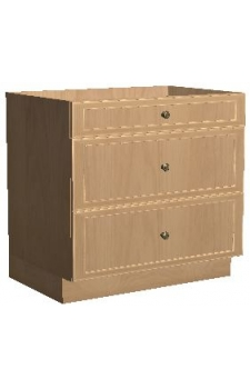 "36"" Three Drawer Base - Hampton white"