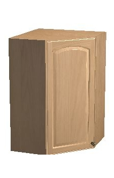 "24"" x 42"" Diagonal Corner Wall Cabinet - Glenview Cherry"