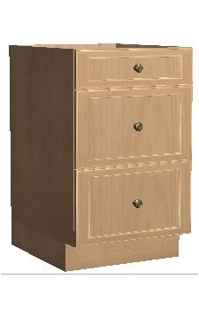 "18"" Three Drawer Base - Brunswick Cocoa"
