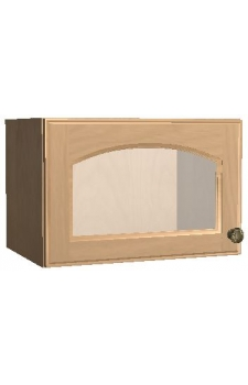 "18"" x 12"" Wall Cabinet w/ a Beveled Glass Door - Brunswick Cocoa"