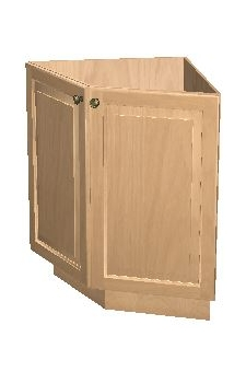 "24"" Base End Angle Cabinet - Arbor White"